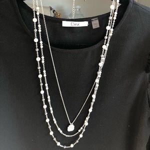 Lia Sophia - Multi-layered pearl necklace